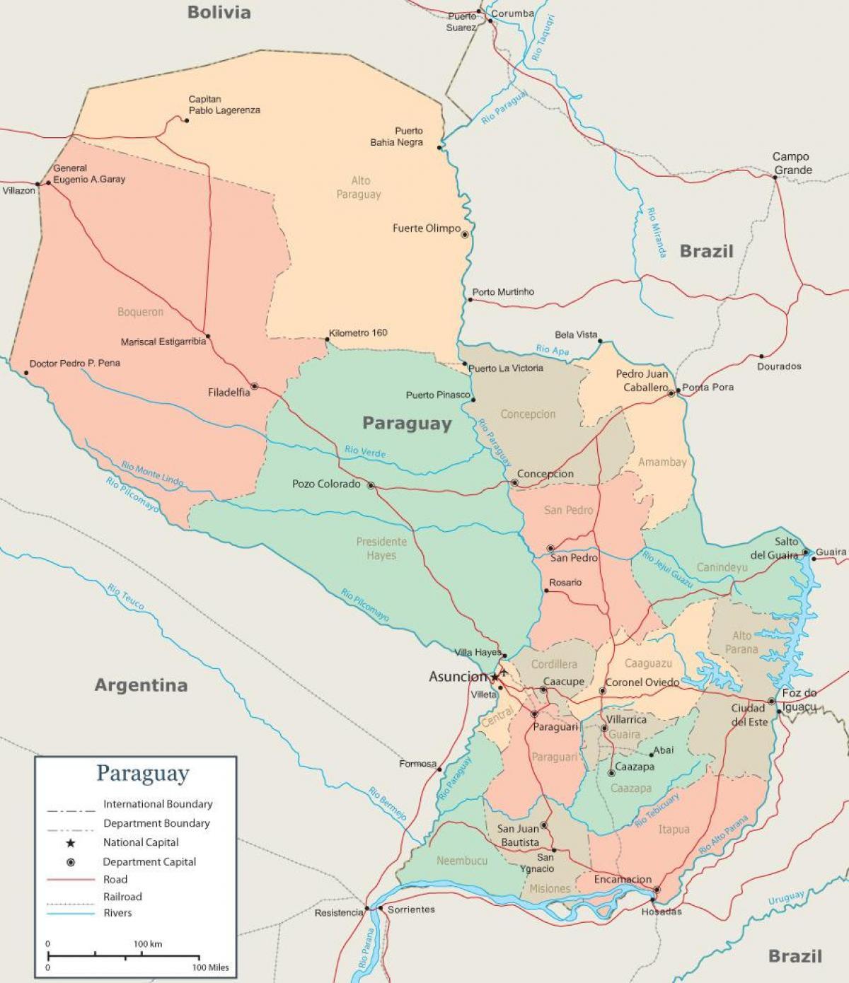 Karte Anzeigen.Asuncion Karte Von Paraguay Paraguay Asuncion Anzeigen