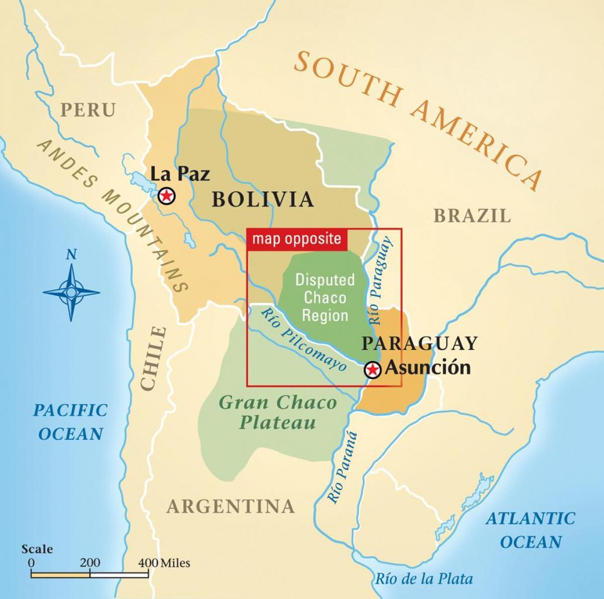Rio Paraguay Landkarte - Karte von rio Paraguay (South ...